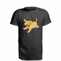 Удлиненная футболка Golden retriever