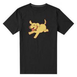Мужская стрейчевая футболка Golden retriever