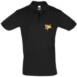 Мужская футболка поло Golden retriever