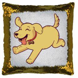 Подушка-хамелеон Golden retriever