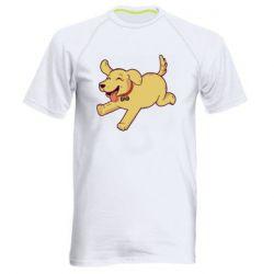 Мужская спортивная футболка Golden retriever