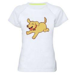 Женская спортивная футболка Golden retriever