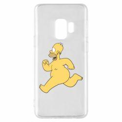 Чехол для Samsung S9 Голый Гомер Симпсон