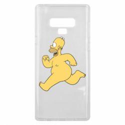 Чехол для Samsung Note 9 Голый Гомер Симпсон