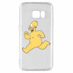 Чехол для Samsung S7 Голый Гомер Симпсон