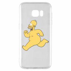 Чехол для Samsung S7 EDGE Голый Гомер Симпсон