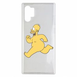 Чехол для Samsung Note 10 Plus Голый Гомер Симпсон