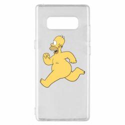 Чехол для Samsung Note 8 Голый Гомер Симпсон