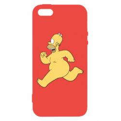 Чехол для iPhone5/5S/SE Голый Гомер Симпсон