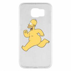 Чехол для Samsung S6 Голый Гомер Симпсон