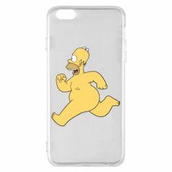 Чехол для iPhone 6 Plus/6S Plus Голый Гомер Симпсон