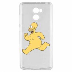 Чехол для Xiaomi Redmi 4 Голый Гомер Симпсон