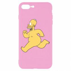 Чехол для iPhone 8 Plus Голый Гомер Симпсон