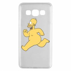Чехол для Samsung A3 2015 Голый Гомер Симпсон