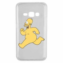 Чехол для Samsung J1 2016 Голый Гомер Симпсон
