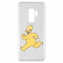 Чехол для Samsung S9+ Голый Гомер Симпсон