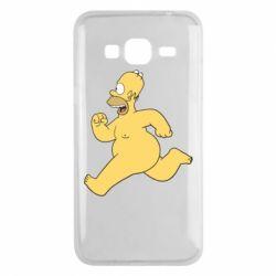 Чехол для Samsung J3 2016 Голый Гомер Симпсон
