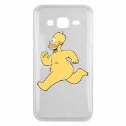 Чехол для Samsung J5 2015 Голый Гомер Симпсон