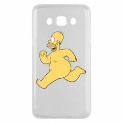 Чехол для Samsung J5 2016 Голый Гомер Симпсон
