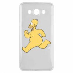 Чехол для Samsung J7 2016 Голый Гомер Симпсон