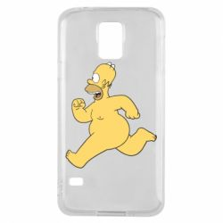 Чехол для Samsung S5 Голый Гомер Симпсон
