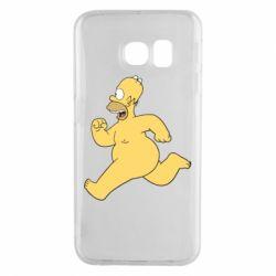 Чехол для Samsung S6 EDGE Голый Гомер Симпсон