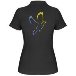 Женская футболка поло Голуб миру - FatLine