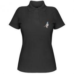 Жіноча футболка поло Голуб