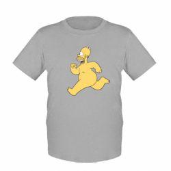 Детская футболка Голый Гомер Симпсон - FatLine