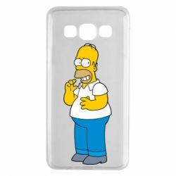 Чехол для Samsung A3 2015 Гомер что-то затеял - FatLine