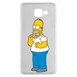 Чехол для Samsung A5 2016 Гомер что-то затеял - FatLine