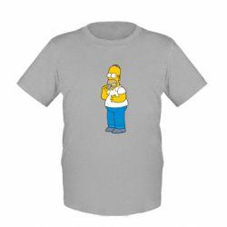 Детская футболка Гомер что-то затеял - FatLine