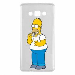 Чехол для Samsung A7 2015 Гомер что-то затеял - FatLine