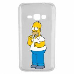 Чехол для Samsung J1 2016 Гомер что-то затеял - FatLine