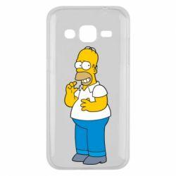 Чехол для Samsung J2 2015 Гомер что-то затеял - FatLine