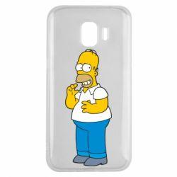 Чехол для Samsung J2 2018 Гомер что-то затеял - FatLine