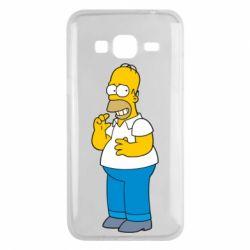 Чехол для Samsung J3 2016 Гомер что-то затеял - FatLine
