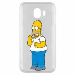 Чехол для Samsung J4 Гомер что-то затеял - FatLine