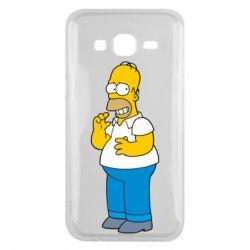 Чехол для Samsung J5 2015 Гомер что-то затеял - FatLine