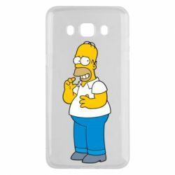 Чехол для Samsung J5 2016 Гомер что-то затеял - FatLine