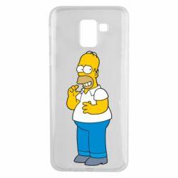 Чехол для Samsung J6 Гомер что-то затеял - FatLine