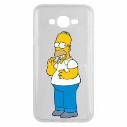 Чехол для Samsung J7 2015 Гомер что-то затеял - FatLine
