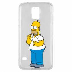 Чехол для Samsung S5 Гомер что-то затеял - FatLine