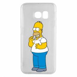 Чехол для Samsung S6 EDGE Гомер что-то затеял - FatLine