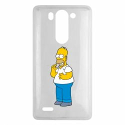Чехол для LG G3 mini/G3s Гомер что-то затеял - FatLine