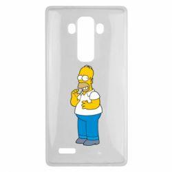 Чехол для LG G4 Гомер что-то затеял - FatLine