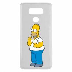 Чехол для LG G6 Гомер что-то затеял - FatLine