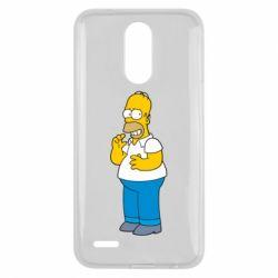 Чехол для LG K10 2017 Гомер что-то затеял - FatLine