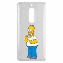 Чехол для Nokia 5 Гомер что-то затеял - FatLine