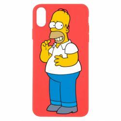 Чехол для iPhone Xs Max Гомер что-то затеял - FatLine